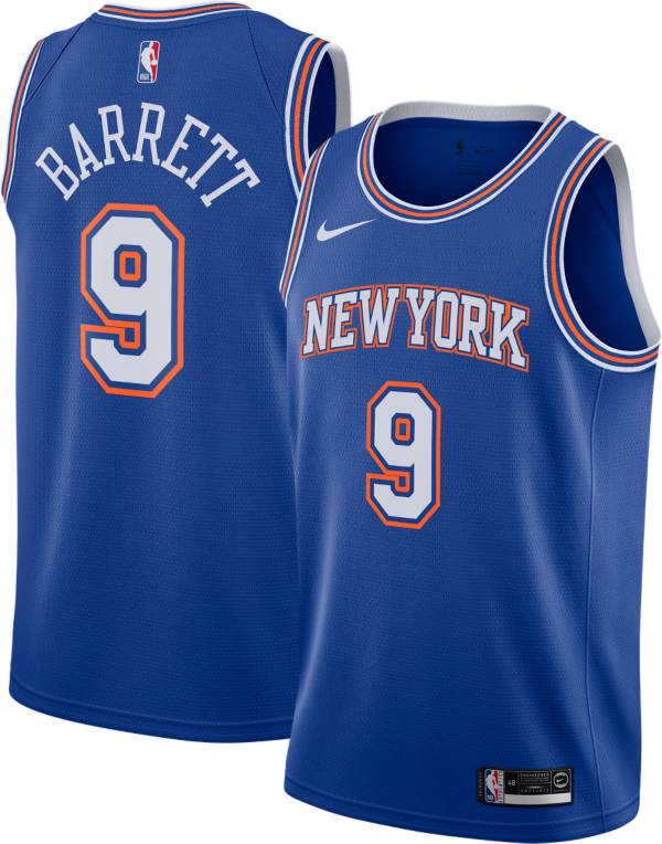 Nike Youth New York Knicks RJ Barrett #9 Navy Statement Dri-FIT Swingman Jersey product image