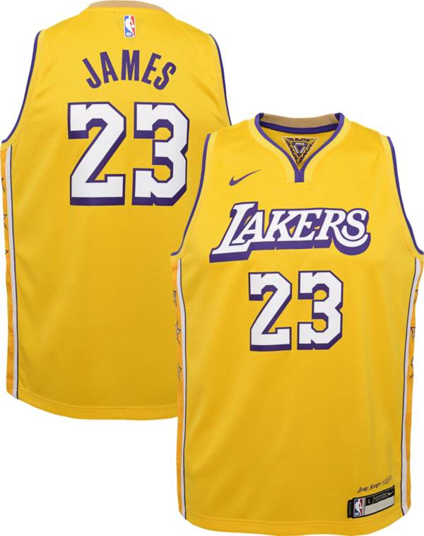 Nike Youth Los Angeles Lakers LeBron James Dri-FIT City Edition Swingman Jersey product image