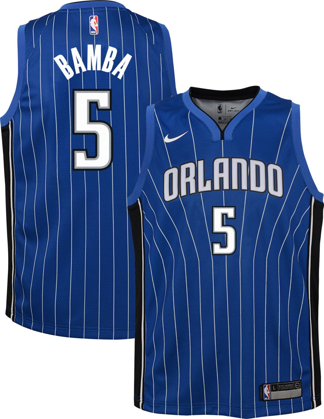 competitive price 0d7a2 672d8 Nike Youth Orlando Magic Mohamed Bamba #5 Royal Dri-FIT Swingman Jersey