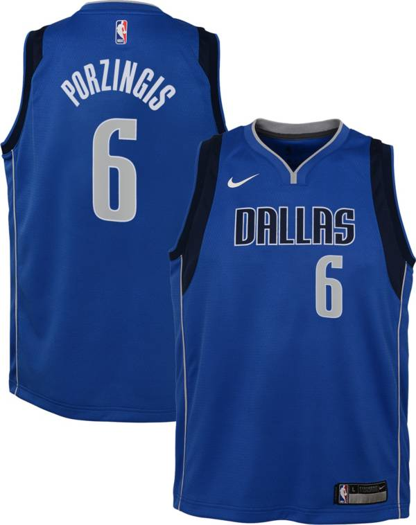 Nike Youth Dallas Mavericks Kristaps Porzingis #6 Blue Dri-FIT Swingman Jersey product image
