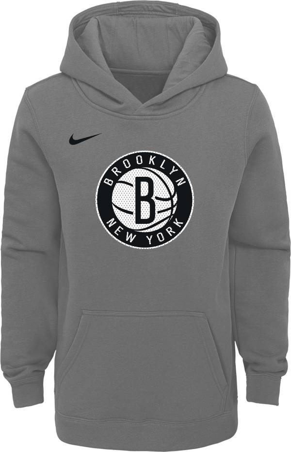 Nike Youth Brooklyn Nets Grey Statement Hoodie product image