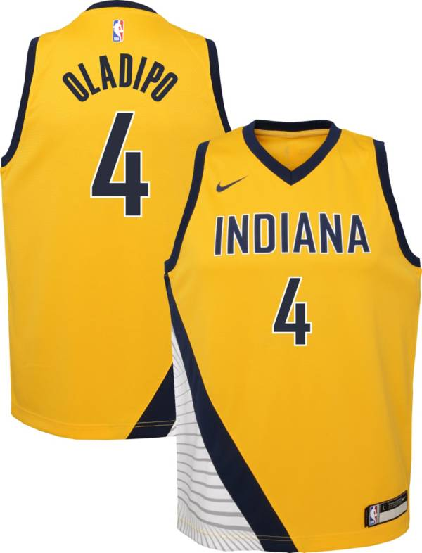 Nike Youth Indiana Pacers Victor Oladipo #4 Gold Dri-FIT Statement Swingman Jersey product image