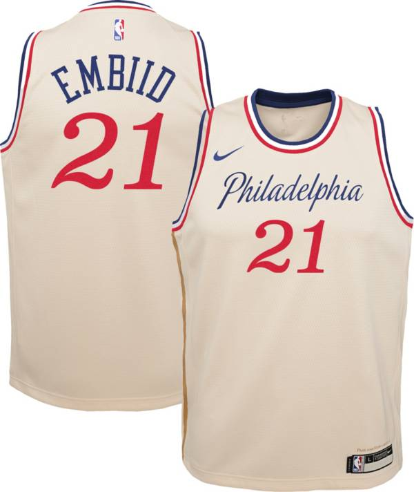 Nike Youth Philadelphia 76ers Joel Embiid Dri-FIT City Edition Swingman Jersey product image