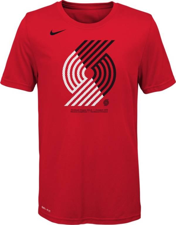 Nike Youth Portland Trail Blazers Dri-FIT Split Logo T-Shirt product image