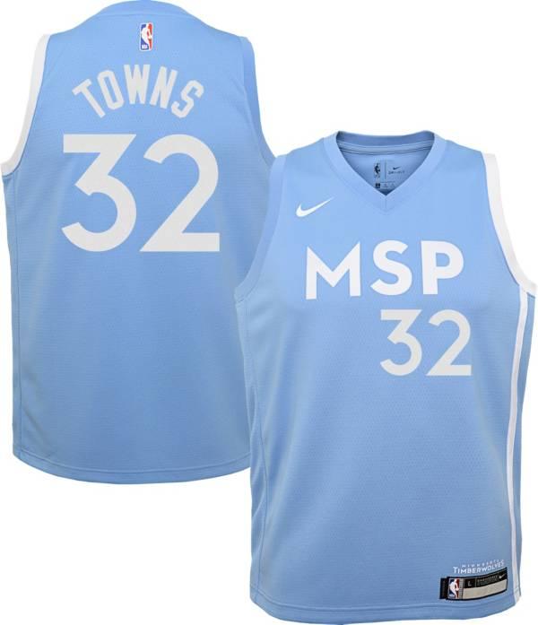 Nike Youth Minnesota Timberwolves Karl-Anthony Towns Dri-FIT City Edition Swingman Jersey product image