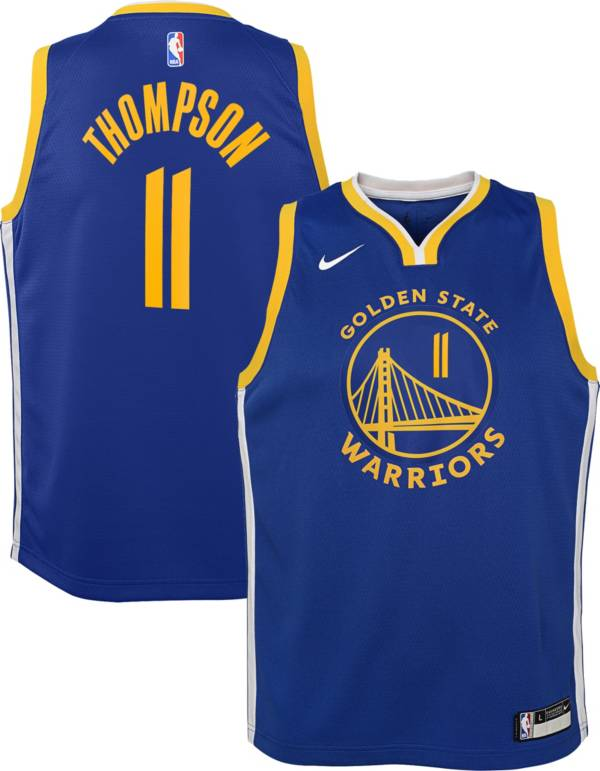 Nike Youth Golden State Warriors Klay Thompson #11 Royal Dri-FIT Swingman Jersey product image
