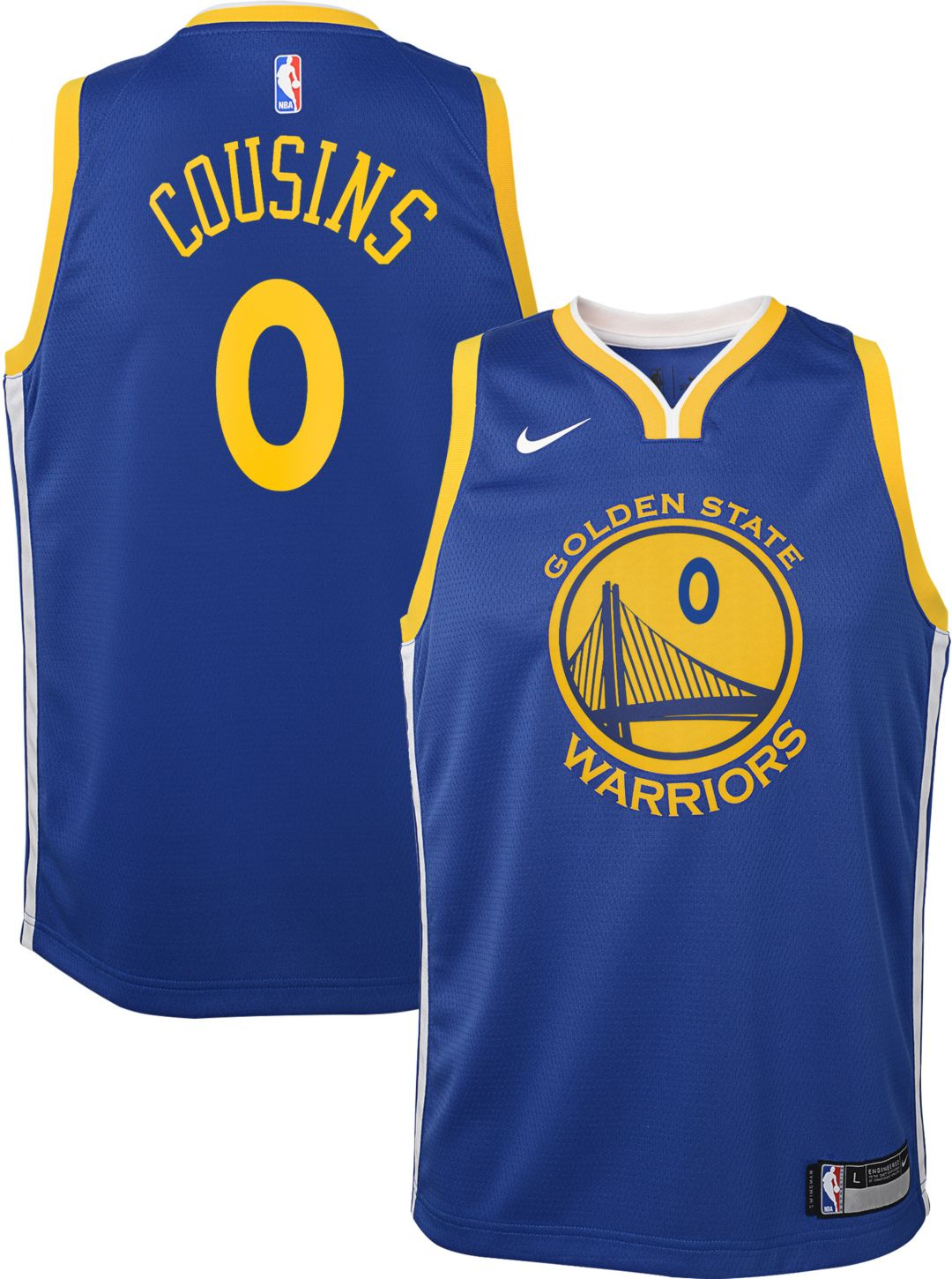 a1441e78 Nike Youth Golden State Warriors DeMarcus Cousins #0 Royal Dri-FIT Swingman  Jersey. noImageFound. Previous