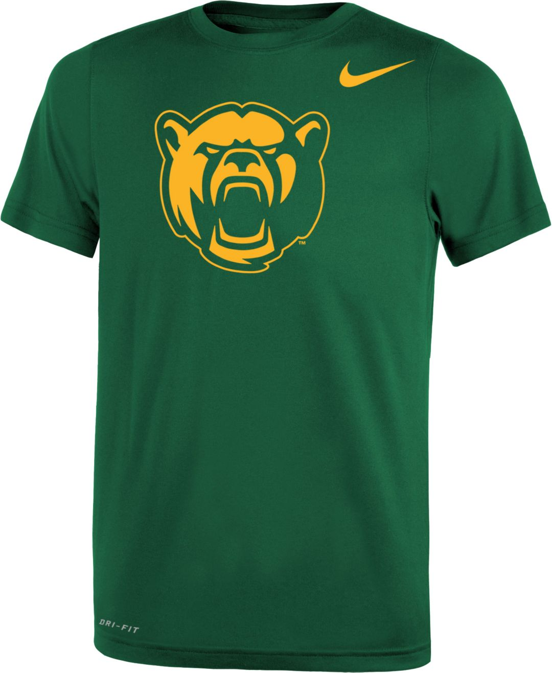 862edc13acaefc Nike Youth Baylor Bears Green Logo Dri-FIT Legend 2.0 T-Shirt ...