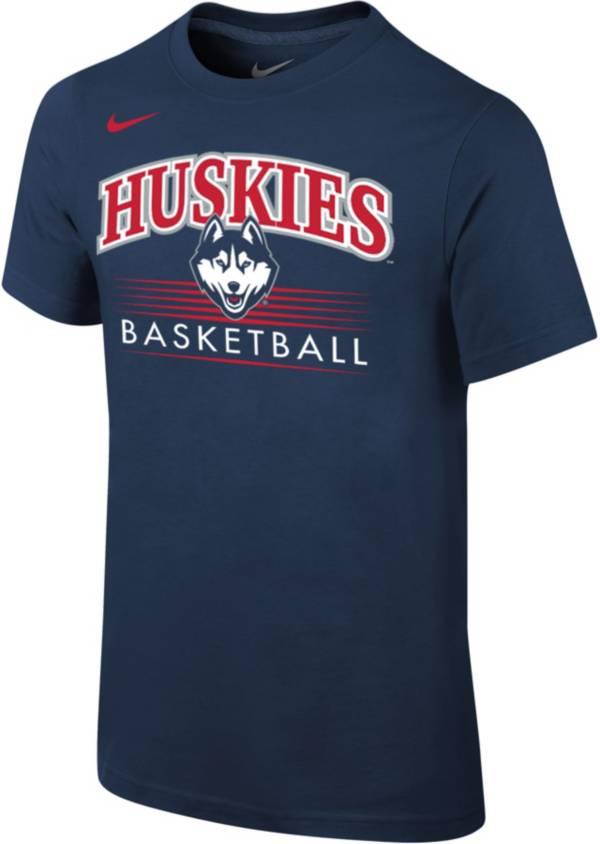 Nike Youth UConn Huskies Blue Cotton Basketball T-Shirt product image