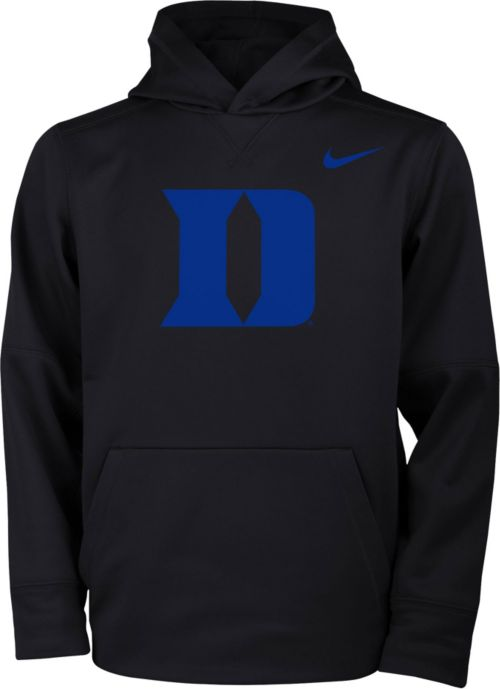 9fd5decea Nike Youth Duke Blue Devils Therma Logo Black Hoodie. noImageFound. 1
