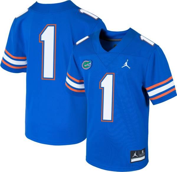 Jordan Boys' Florida Gators #1 Blue Replica Football Jersey