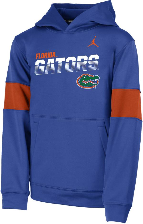 Jordan Youth Florida Gators Blue Therma Football Sideline Pullover Hoodie product image