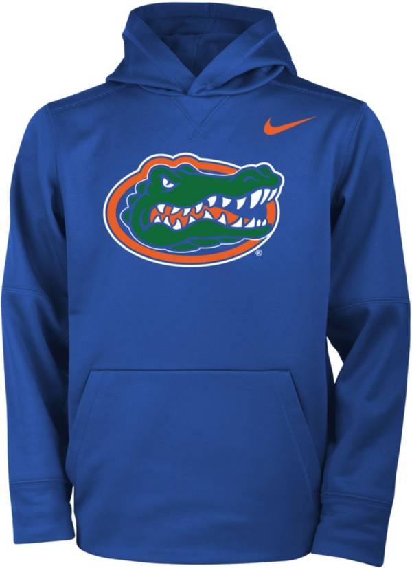 Nike Youth Florida Gators Blue Therma Logo Hoodie product image