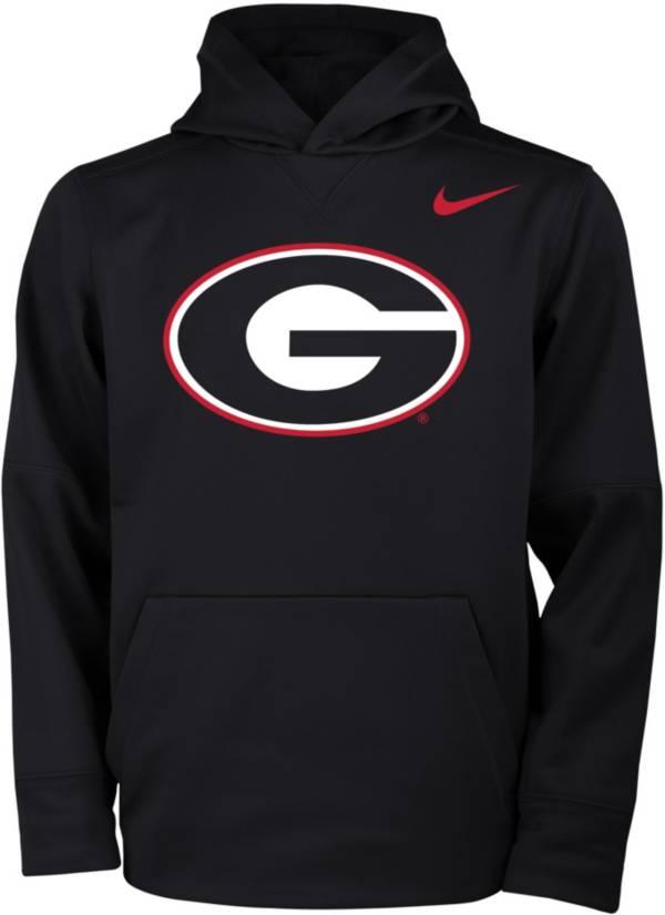 Nike Youth Georgia Bulldogs Therma Logo Black Hoodie product image