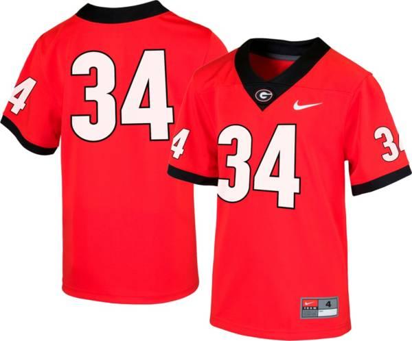 Nike Boys' Georgia Bulldogs #34 Red Replica Football Jersey product image