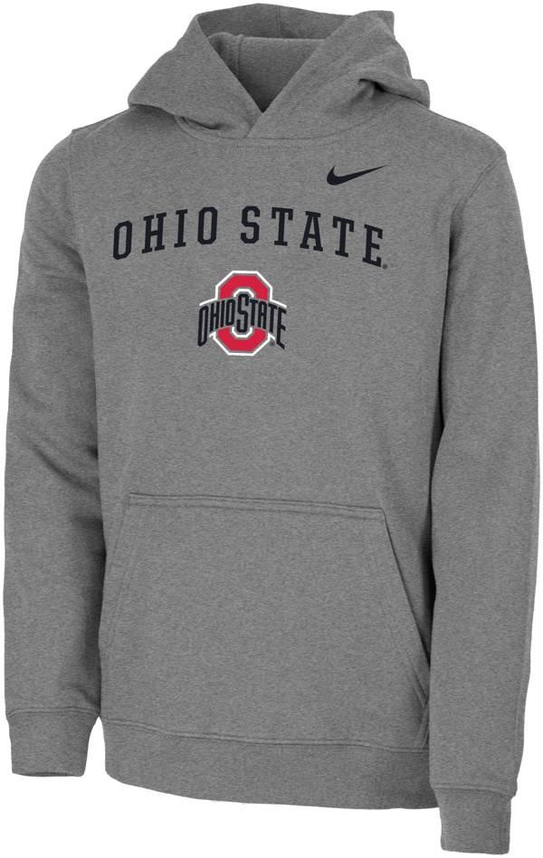 Nike Youth Ohio State Buckeyes Gray Club Fleece Pullover Hoodie product image