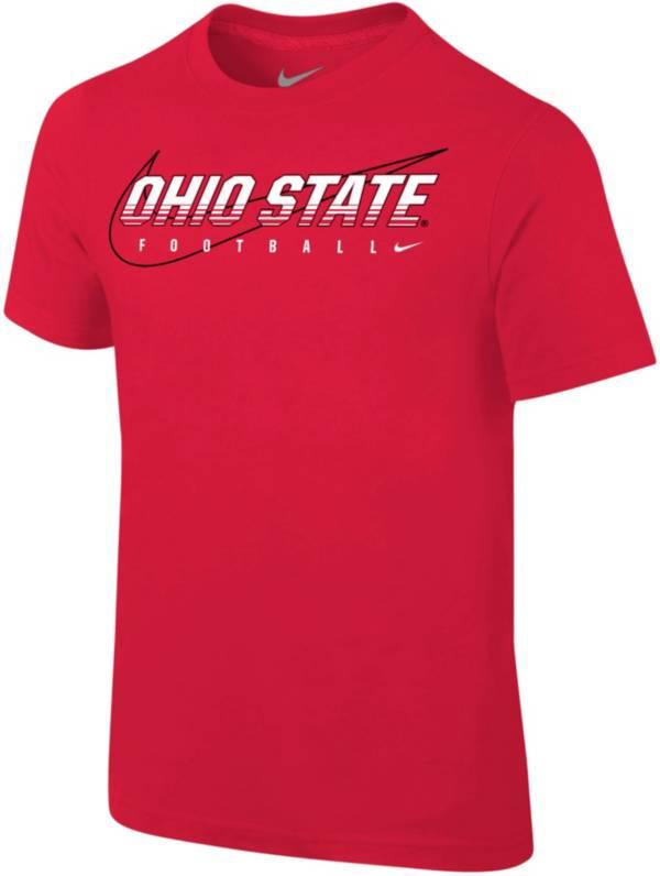 Nike Youth Ohio State Buckeyes Scarlet Football Dri-FIT Cotton Preschool Facility T-Shirt product image