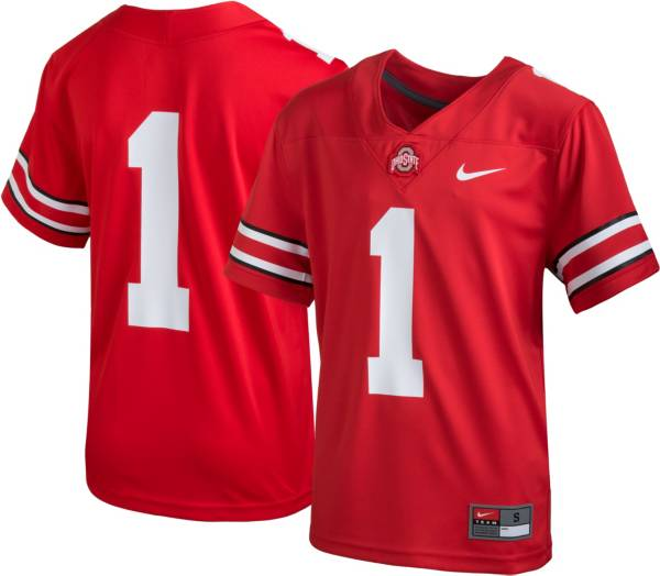 Nike Youth Ohio State Buckeyes #1 Scarlet Replica Football Jersey product image