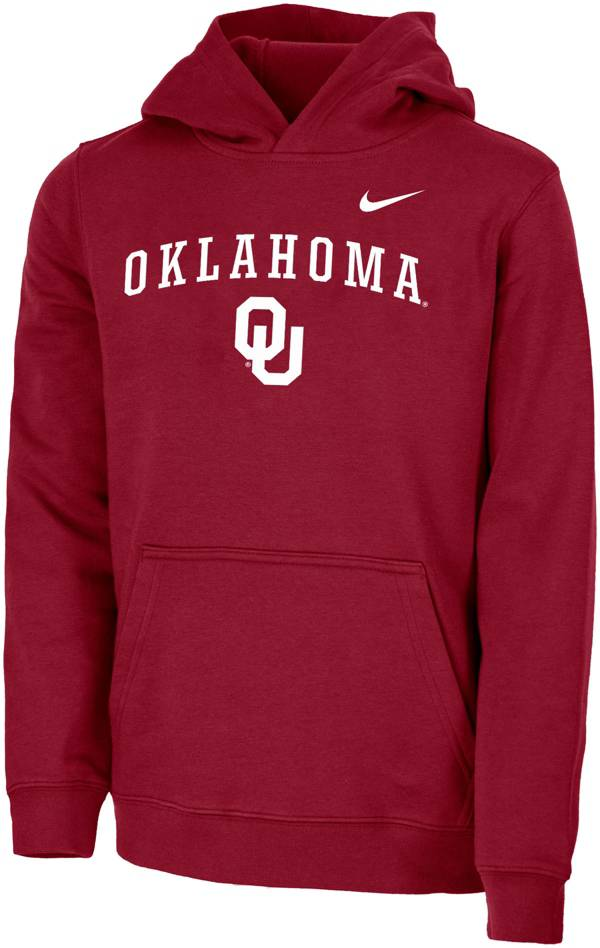 Nike Youth Oklahoma Sooners Crimson Club Fleece Pullover Hoodie product image