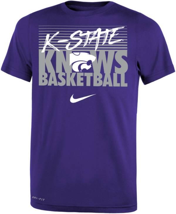 Nike Youth Kansas State Wildcats Purple Basketball Phrase T-Shirt product image
