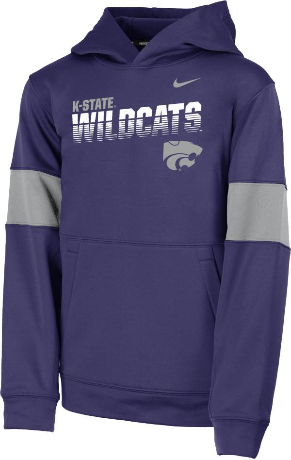 Nike Youth Kansas State Wildcats Purple Therma Football Sideline Pullover Hoodie product image