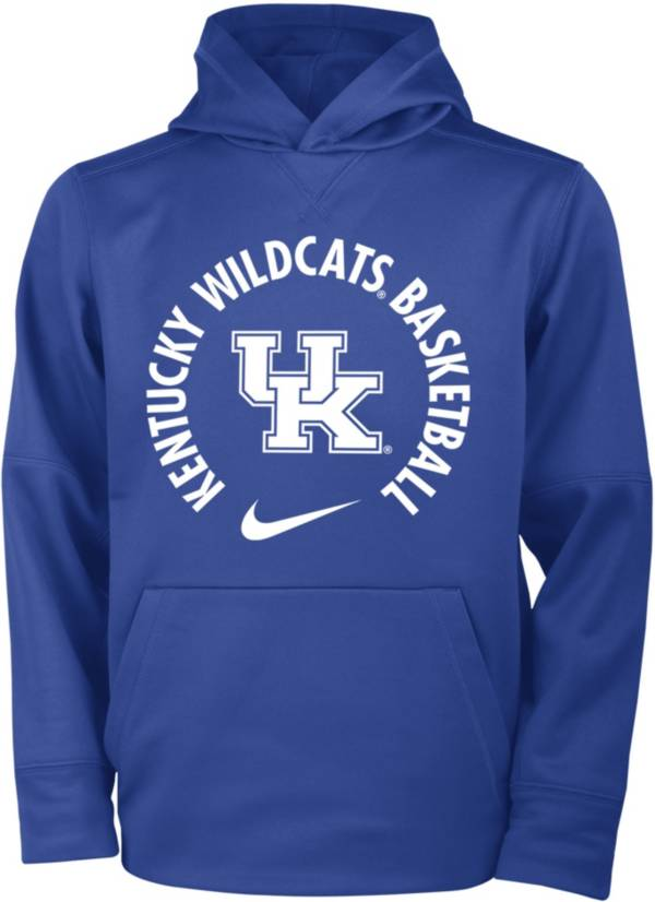 Nike Youth Kentucky Wildcats Blue Therma Basketball Hoodie product image