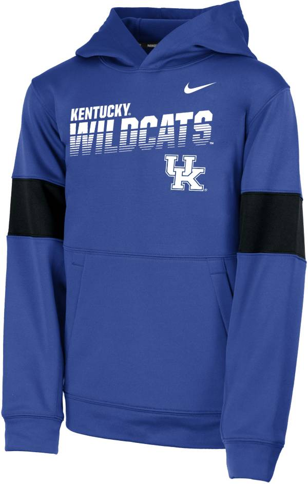 Nike Youth Kentucky Wildcats Blue Therma Football Sideline Pullover Hoodie product image