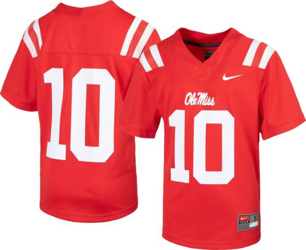Nike Youth Ole Miss Rebels #10 Red Replica Football Jersey product image
