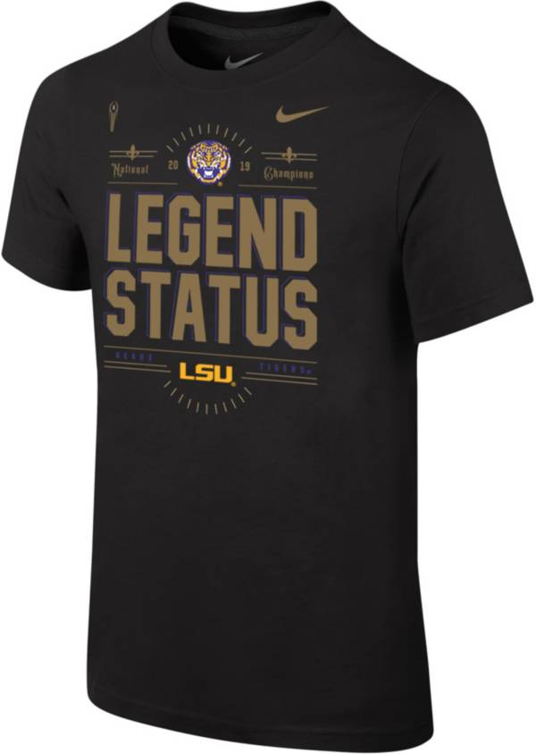Nike Youth 2019 National Champions LSU Tigers Locker Room T-Shirt product image