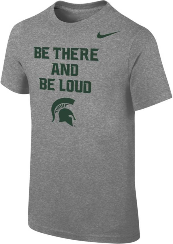 Nike Youth Michigan State Spartans Grey 'Be There and Be Loud' Mantra T-Shirt product image