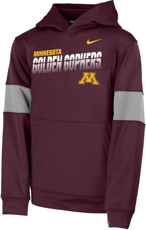 Nike Youth Minnesota Golden Gophers Maroon Therma Football Sideline Pullover Hoodie product image