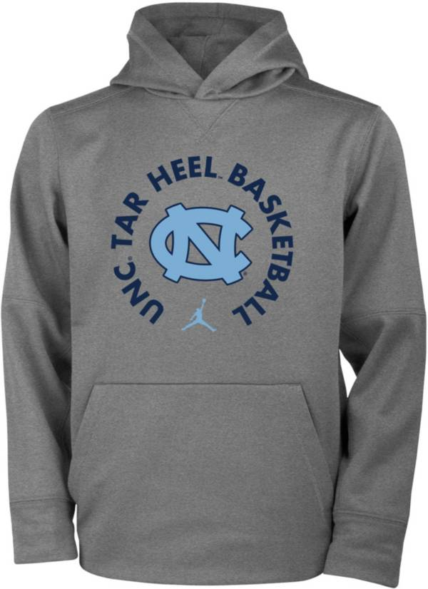 Jordan Youth North Carolina Tar Heels Grey Therma Basketball Hoodie product image