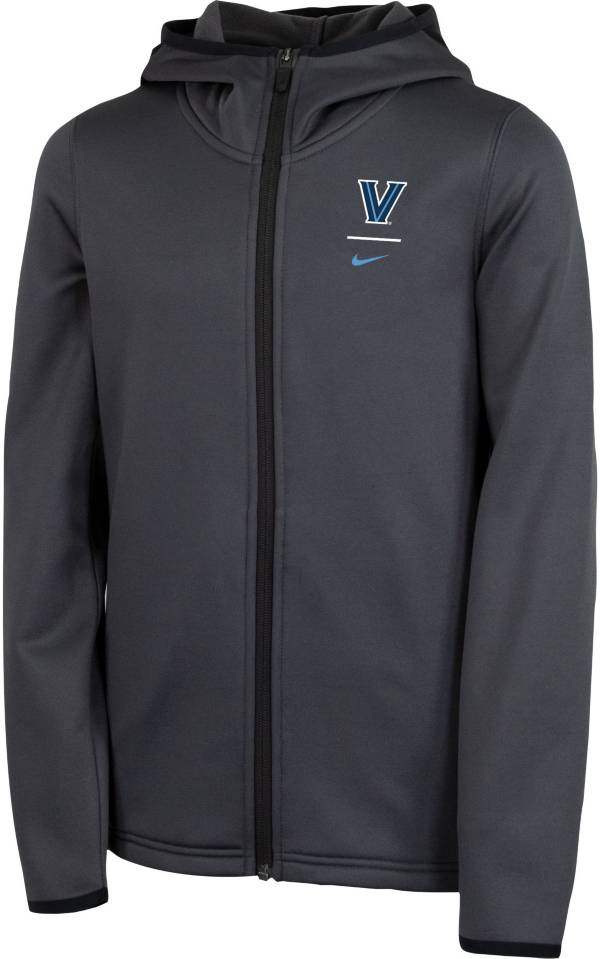 Nike Youth Villanova Wildcats Grey Therma Full-Zip Hoodie product image