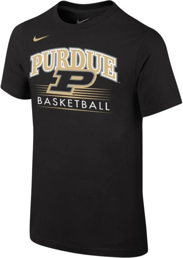 Nike Youth Purdue Boilermakers Cotton Basketball Black T-Shirt product image