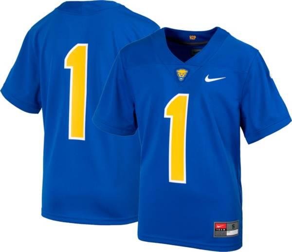 Nike Youth Pitt Panthers #1 Blue Replica Football Jersey product image