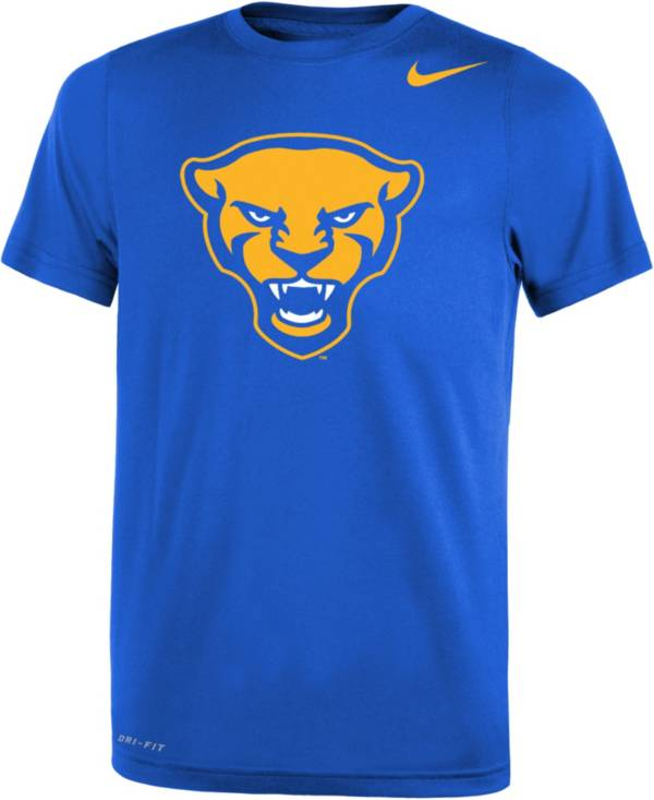 Nike Youth Pitt Panthers Blue Panther Head Logo Dri-FIT Legend 2.0 T-Shirt product image
