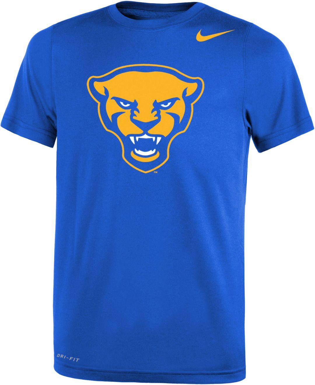 sports shoes e34c3 1de1f Nike Youth Pitt Panthers Blue Panther Head Logo Dri-FIT Legend 2.0 T-Shirt