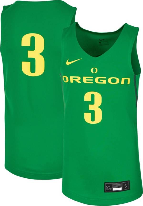 Nike Youth Oregon Ducks #3 Green Replica Basketball Jersey product image