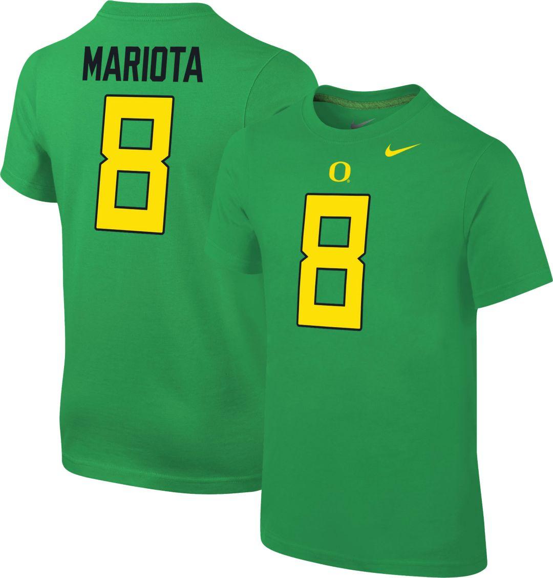 sports shoes d14e9 bf0ad Nike Youth Marcus Mariota Oregon Ducks #8 Green Cotton Football Jersey  T-Shirt