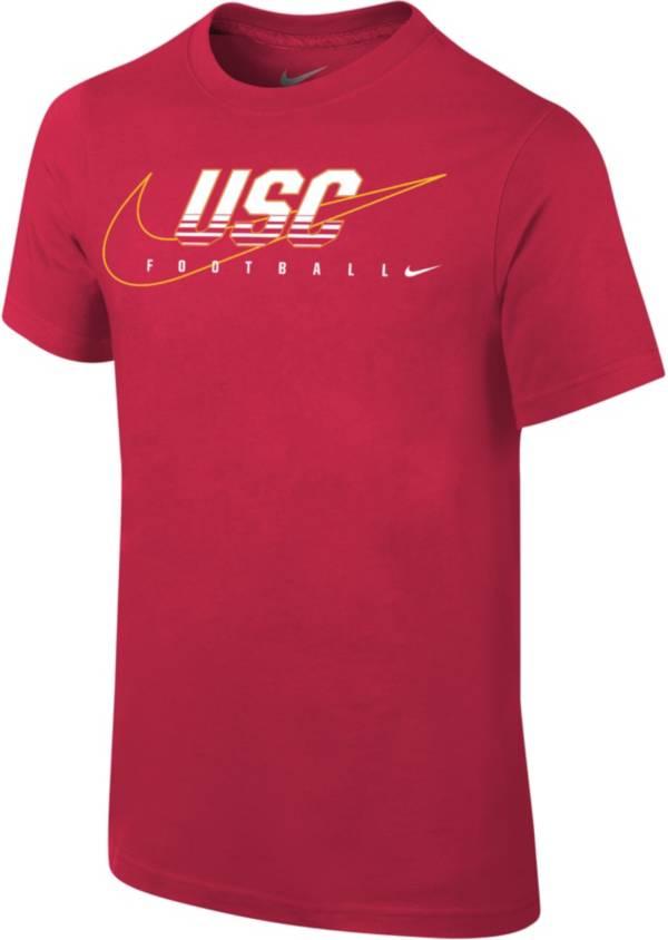 Nike Youth USC Trojans Cardinal Football Dri-FIT Cotton Facility T-Shirt product image
