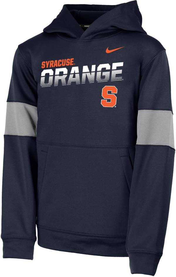 Nike Youth Syracuse Orange Blue Therma Football Sideline Pullover Hoodie product image