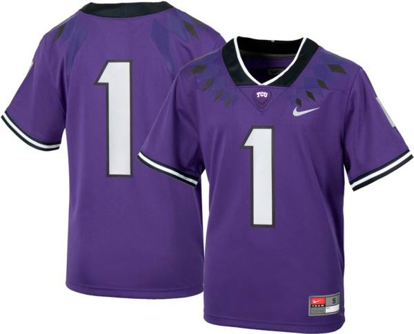 Nike Youth TCU Horned Frogs #1 Purple Replica Football Jersey product image