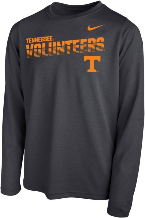Nike Youth Tennessee Volunteers Grey Legend Football Sideline Long Sleeve T-Shirt product image