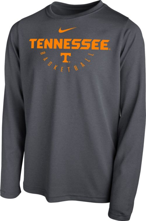 44623d68b6f2 Nike Youth Tennessee Volunteers Grey Legend Long Sleeve Basketball T-Shirt.  noImageFound. 1