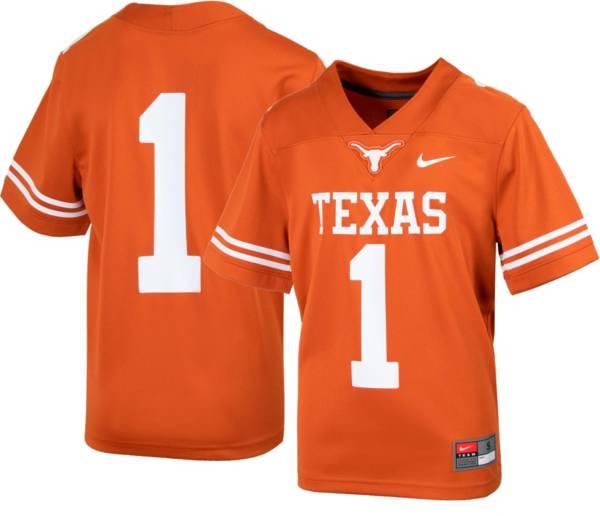 Nike Youth Texas Longhorns #1 Burnt Orange Replica Football Jersey product image