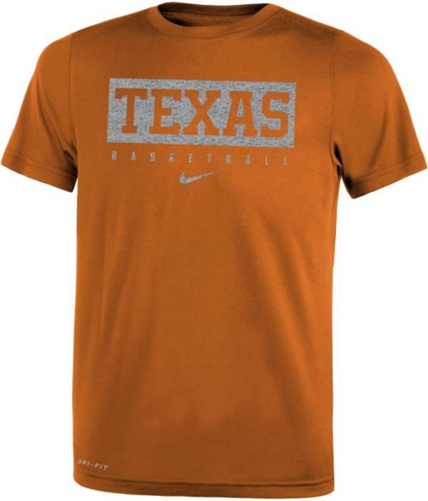 Nike Youth Texas Longhorns Burnt Orange Basketball Icon Wordmark T-Shirt product image