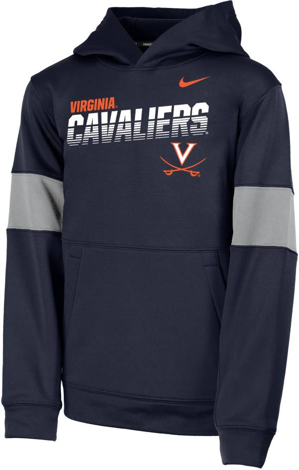 Nike Youth Virginia Cavaliers Blue Therma Football Sideline Pullover Hoodie product image