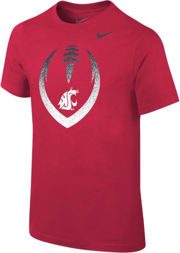 Nike Youth Washington State Cougars Crimson Cotton Football Icon T-Shirt product image