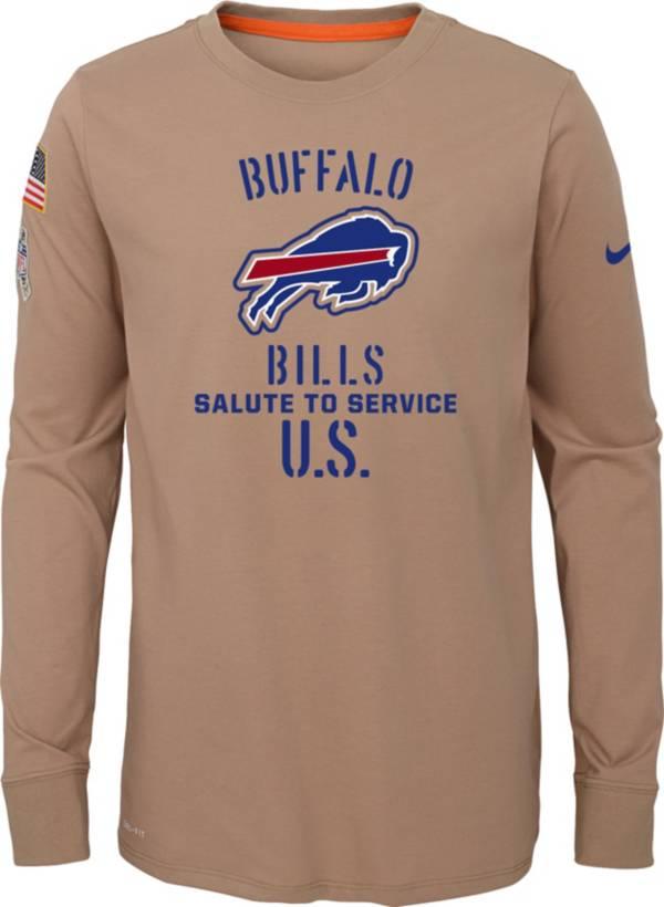 Nike Youth Salute to Service Buffalo Bills Dri-FIT Beige Long Sleeve Shirt product image