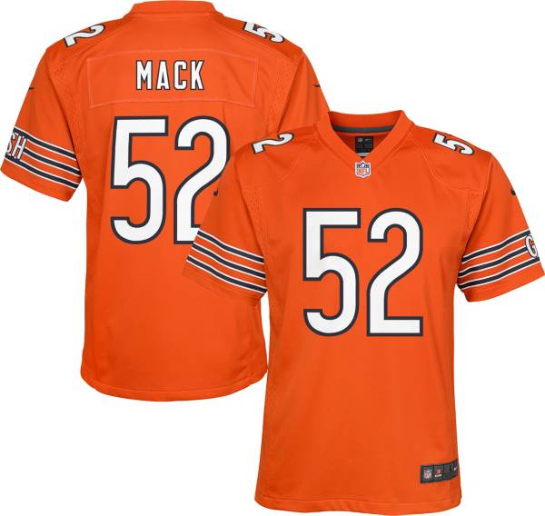 Nike Youth Chicago Bears Khalil Mack #52 Orange Game Jersey product image
